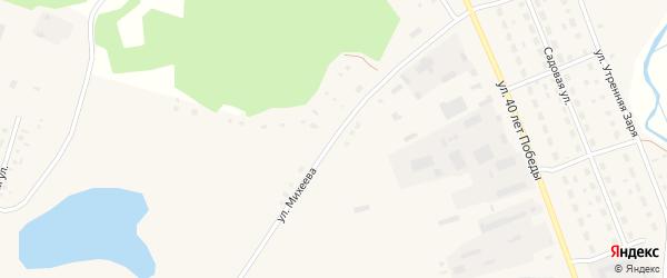 Улица Михеева на карте села Хабаров с номерами домов