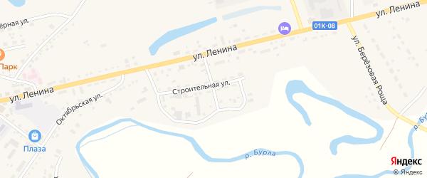 Строительный переулок на карте села Хабаров с номерами домов