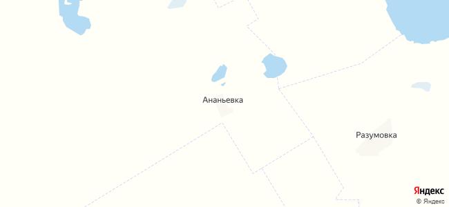 Ананьевка на карте
