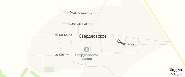 Карта Свердловского села в Алтайском крае с улицами и номерами домов