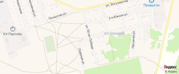 Улица 50 лет Победы на карте Михайловского села с номерами домов