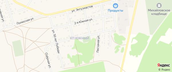 Луговая улица на карте Михайловского села с номерами домов