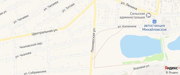 Улица Чкалова на карте Михайловского села Алтайского края с номерами домов