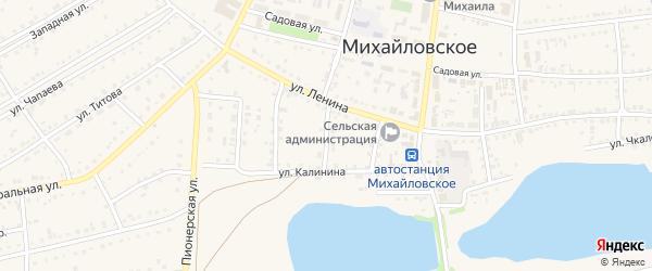 2-й Калининский переулок на карте Михайловского села с номерами домов