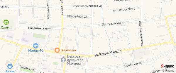 Улица Л.Толстого на карте Михайловского села Алтайского края с номерами домов