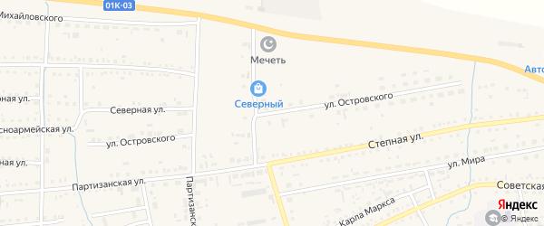 Улица Островского на карте Михайловского села с номерами домов