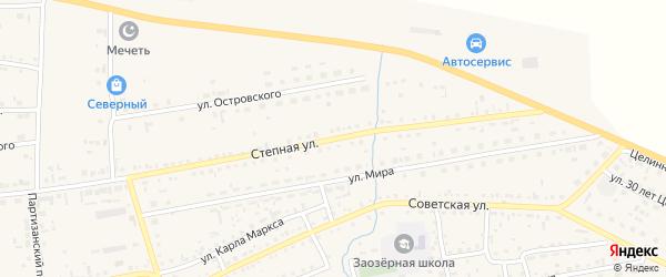 Степная улица на карте Михайловского села Алтайского края с номерами домов