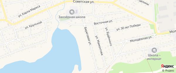 Береговая улица на карте Михайловского села с номерами домов