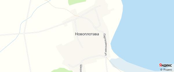 Карта поселка Новоплотавы в Алтайском крае с улицами и номерами домов