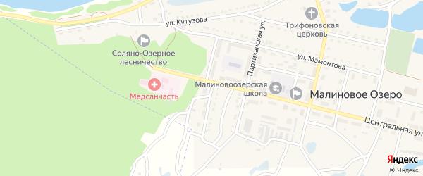 Боровая улица на карте поселка Малинового Озера Алтайского края с номерами домов