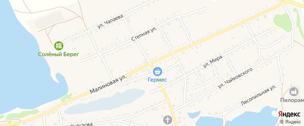 Малиновая улица на карте поселка Малинового Озера с номерами домов