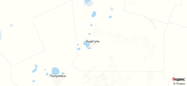 Ащегуль на карте