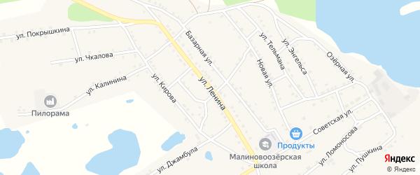 Улица Ленина на карте поселка Малинового Озера с номерами домов