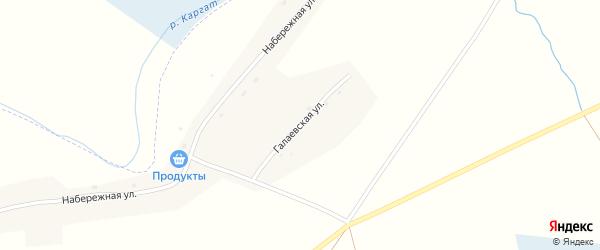 Галаевская улица на карте Маршанского села Новосибирской области с номерами домов