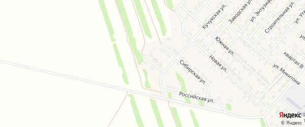 Алтайская улица на карте поселка Степного Озера с номерами домов