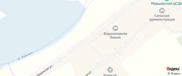 Набережная улица на карте Маршанского села Новосибирской области с номерами домов