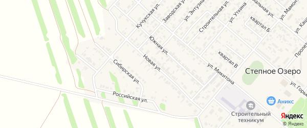 Новая улица на карте поселка Степного Озера Алтайского края с номерами домов
