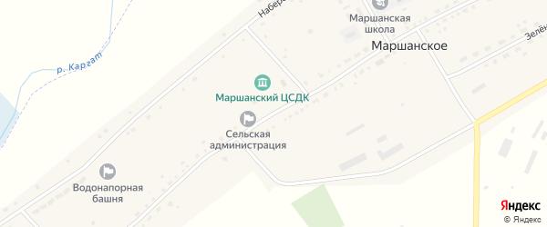 Центральная улица на карте Барановского поселка Новосибирской области с номерами домов