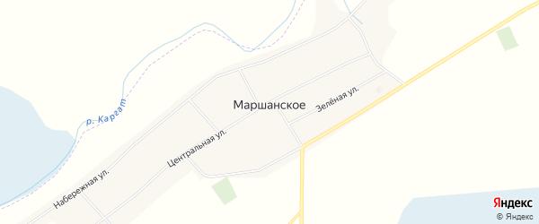Карта Маршанского села в Новосибирской области с улицами и номерами домов