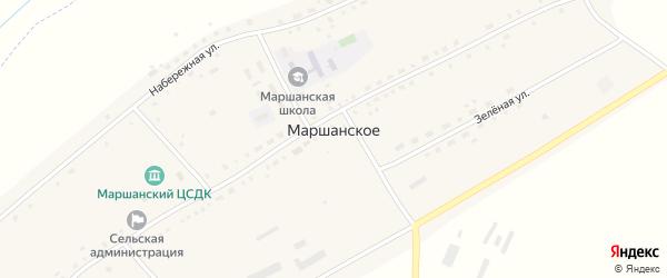Промышленная улица на карте Маршанского села Новосибирской области с номерами домов