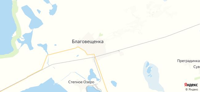 Благовещенка на карте