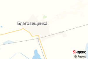 Карта пгт Благовещенка Алтайский край