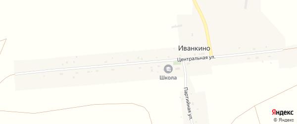 Центральная улица на карте села Иванкино Новосибирской области с номерами домов