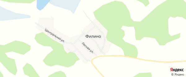 Карта поселка Филино в Новосибирской области с улицами и номерами домов