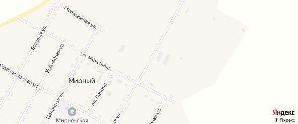 Октябрьская улица на карте Мирного поселка с номерами домов