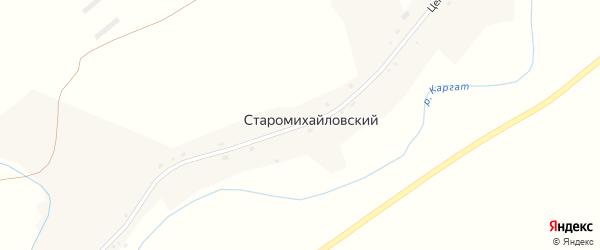 Центральная улица на карте Старомихайловского поселка Новосибирской области с номерами домов