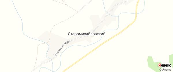 Карта Старомихайловского поселка в Новосибирской области с улицами и номерами домов