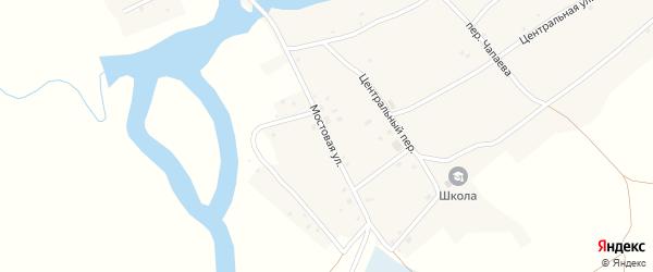 Мостовая улица на карте Кривого села с номерами домов