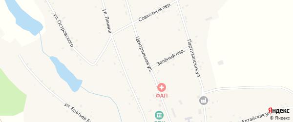 Центральная улица на карте села Велижанки с номерами домов