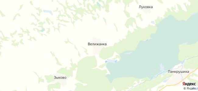 Велижанка на карте
