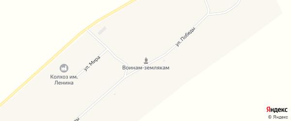 Улица Мира на карте поселка Новокулундинки Алтайского края с номерами домов