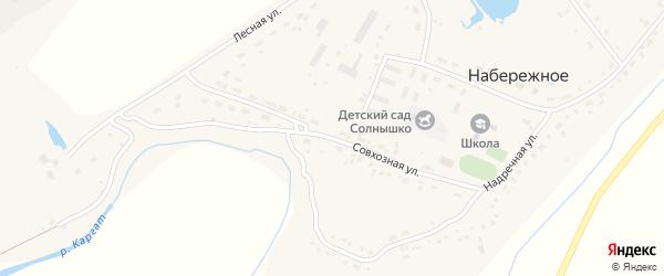 Совхозная улица на карте Набережного села Новосибирской области с номерами домов