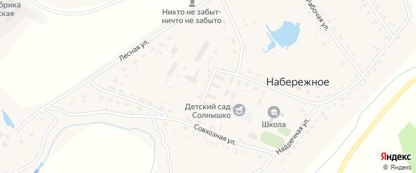 Комсомольская улица на карте Набережного села Новосибирской области с номерами домов