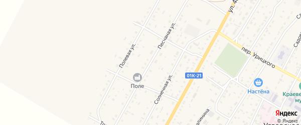 Песчаная улица на карте Угловского села с номерами домов