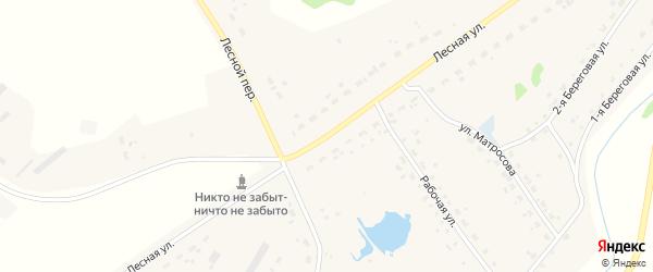 Лесной переулок на карте Набережного села Новосибирской области с номерами домов