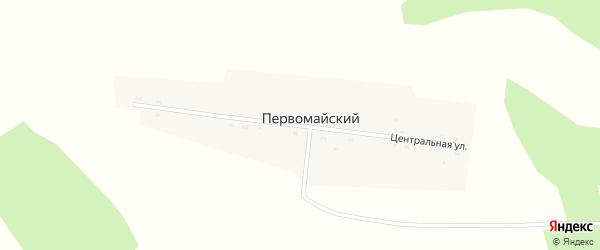 Центральная улица на карте Первомайского поселка Новосибирской области с номерами домов