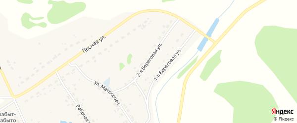 2-я Береговая улица на карте Набережного села Новосибирской области с номерами домов