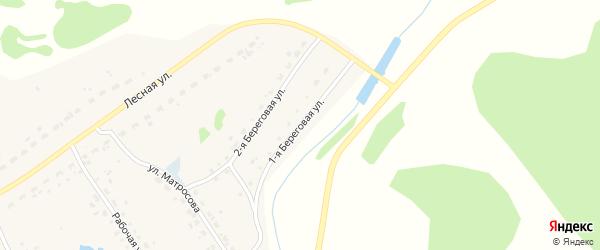1-я Береговая улица на карте Набережного села Новосибирской области с номерами домов