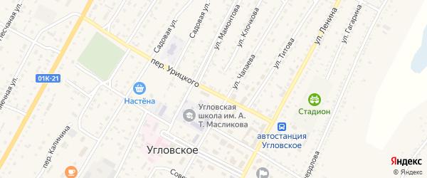 Южный переулок на карте Угловского села с номерами домов