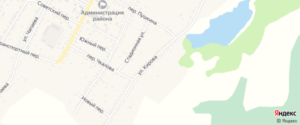 Улица Кирова на карте Угловского села с номерами домов
