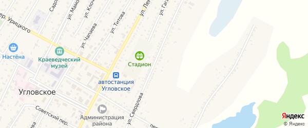 Улица Свердлова на карте Угловского села с номерами домов