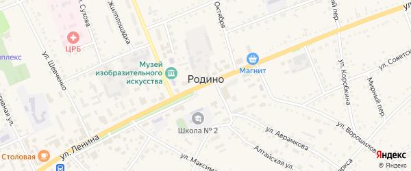 Ракитная улица на карте села Родино с номерами домов