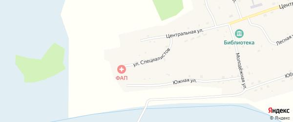 Улица Специалистов на карте села Кольцовки Новосибирской области с номерами домов