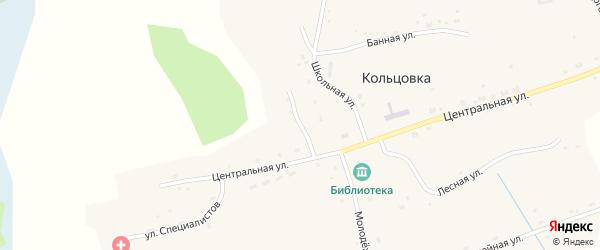 Магазинная улица на карте села Кольцовки Новосибирской области с номерами домов