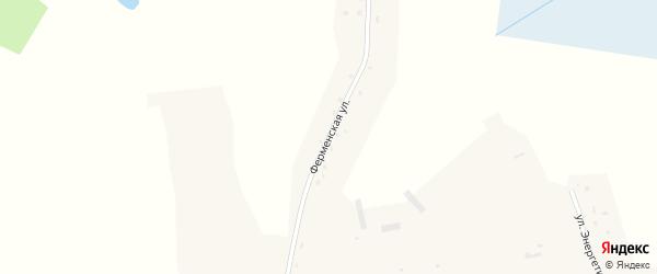 Ферменская улица на карте села Кольцовки Новосибирской области с номерами домов