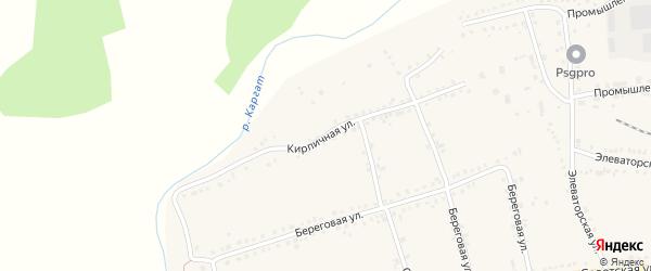 Кирпичная улица на карте Каргата с номерами домов